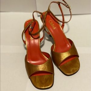 New Vintage Chloé Leather Sandals (35)